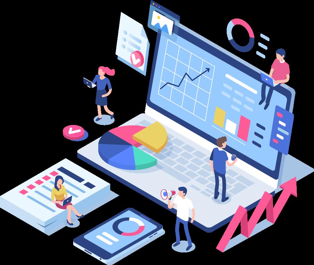 Illustration einer Unternehmensanalyse