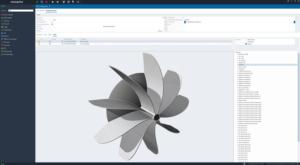 CAD-Visualisierung eines Turbinen-Rades