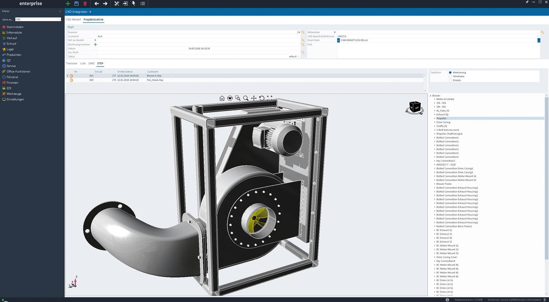 CAD-Visualisierung einer Turbine